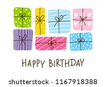 birthday greeting card with... | Shutterstock .eps vector #1167918388