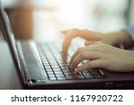 working with laptop. searching... | Shutterstock . vector #1167920722