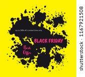 black friday sale banner. paint ... | Shutterstock .eps vector #1167921508
