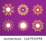 abstract circle ornament with... | Shutterstock .eps vector #1167923998