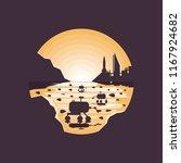 mars colonization futuristic... | Shutterstock .eps vector #1167924682
