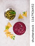 traditional beet dip with... | Shutterstock . vector #1167926452