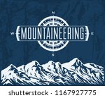 mountaineering and travelling... | Shutterstock .eps vector #1167927775