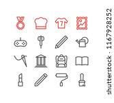 vector illustration of 16 hobby ... | Shutterstock .eps vector #1167928252