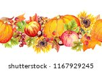 autumn leaves  fruits and... | Shutterstock . vector #1167929245