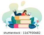 concept of online learning....   Shutterstock .eps vector #1167930682