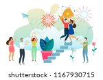 successful man and woman...   Shutterstock .eps vector #1167930715