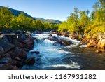norway nature. mountain river... | Shutterstock . vector #1167931282