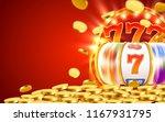 golden slot machine wins the... | Shutterstock .eps vector #1167931795