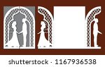 laser cut template of wedding... | Shutterstock .eps vector #1167936538