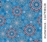seamless oriental ornamental... | Shutterstock .eps vector #1167938128