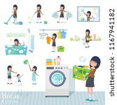 a set of school girl related to ... | Shutterstock .eps vector #1167941182