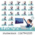 a set of school girl on desk... | Shutterstock .eps vector #1167941335