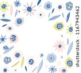 vector frame with flowers and... | Shutterstock .eps vector #1167943462