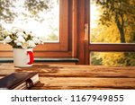 autumn  table and background of ... | Shutterstock . vector #1167949855