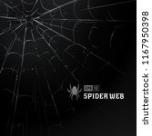 vector spider web on black... | Shutterstock .eps vector #1167950398
