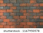 red  brown and gray pavement... | Shutterstock . vector #1167950578