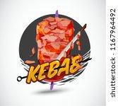 kebab logo   vector illustration | Shutterstock .eps vector #1167964492