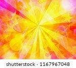 bright dreamy sunrays... | Shutterstock . vector #1167967048