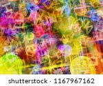 abstract dreamy surreal color... | Shutterstock . vector #1167967162