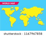 simple stylized world map... | Shutterstock .eps vector #1167967858