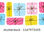 seamless border with color gift ... | Shutterstock .eps vector #1167973105