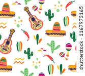 vector seamless pattern with... | Shutterstock .eps vector #1167973165