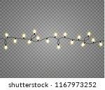 christmas lights isolated...   Shutterstock .eps vector #1167973252