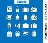 baggage icon. 16 baggage vector ... | Shutterstock .eps vector #1167975355