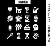beat icon. 16 beat vector set.... | Shutterstock .eps vector #1167976888