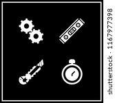 precision icon. 4 precision... | Shutterstock .eps vector #1167977398