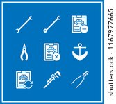 wrench icon. 9 wrench vector... | Shutterstock .eps vector #1167977665