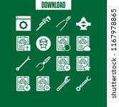 wrench icon. 16 wrench vector... | Shutterstock .eps vector #1167978865