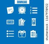 reminder icon. 9 reminder... | Shutterstock .eps vector #1167978922