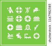 survival icon. 16 survival... | Shutterstock .eps vector #1167982585
