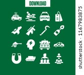 force icon. 16 force vector set.... | Shutterstock .eps vector #1167983875