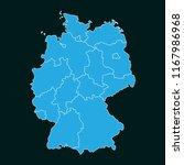 concept map of germany on dark... | Shutterstock .eps vector #1167986968