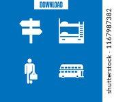 double icon. 4 double vector... | Shutterstock .eps vector #1167987382