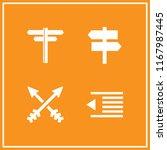 left icon. 4 left vector set.... | Shutterstock .eps vector #1167987445