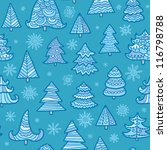 seamless vector christmas and...   Shutterstock .eps vector #116798788