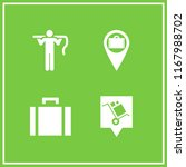 luggage icon. 4 luggage vector... | Shutterstock .eps vector #1167988702