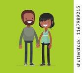 young cute couple vector... | Shutterstock .eps vector #1167989215