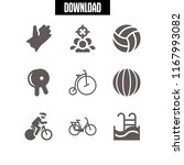 competition icon. 9 competition ... | Shutterstock .eps vector #1167993082