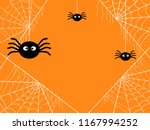 cobweb background with spider... | Shutterstock .eps vector #1167994252