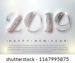 happy new year 2019 greeting... | Shutterstock .eps vector #1167995875