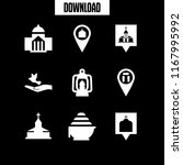 religious icon. 9 religious... | Shutterstock .eps vector #1167995992