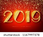 2018 happy new year greeting... | Shutterstock .eps vector #1167997378