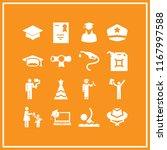 cap icon. 16 cap vector set.... | Shutterstock .eps vector #1167997588