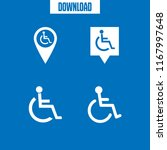 disability icon. 4 disability... | Shutterstock .eps vector #1167997648