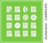 tyre icon. 16 tyre vector set.... | Shutterstock .eps vector #1168001455
